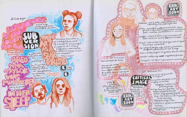 Studio/Art History Doodles