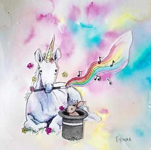 Unicorn Magician (sold at the Little Studio on the Square in Arlington, TN)