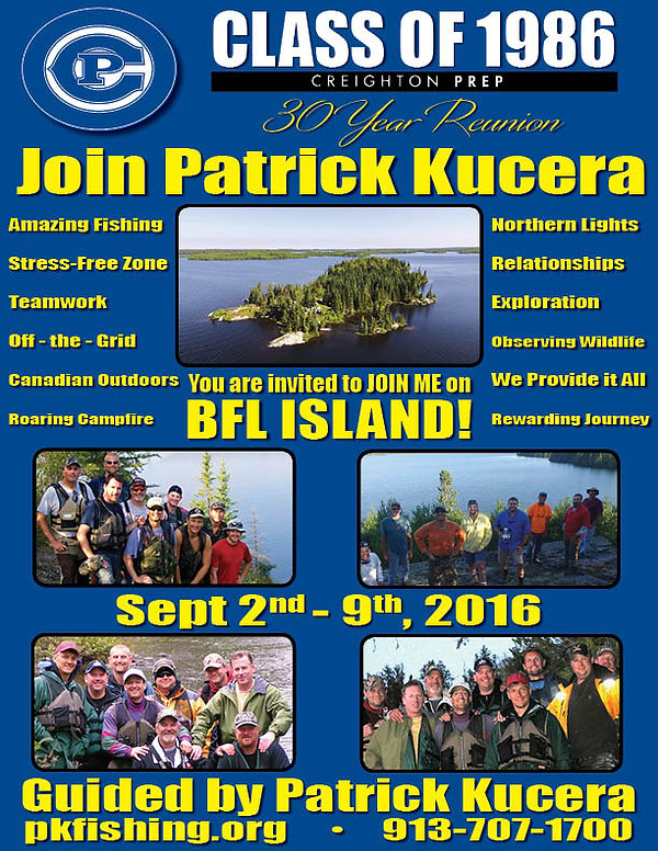 BFL class of 1986 Creighton Prep 30 year reunion 2016 flyer