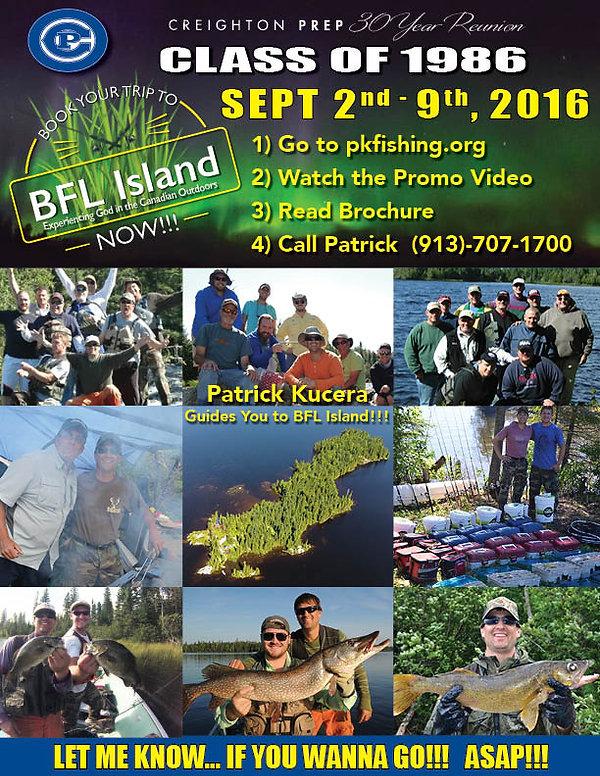 BFL class of 1986 Creighton Prep 30 year reunion 2016 flyer #2