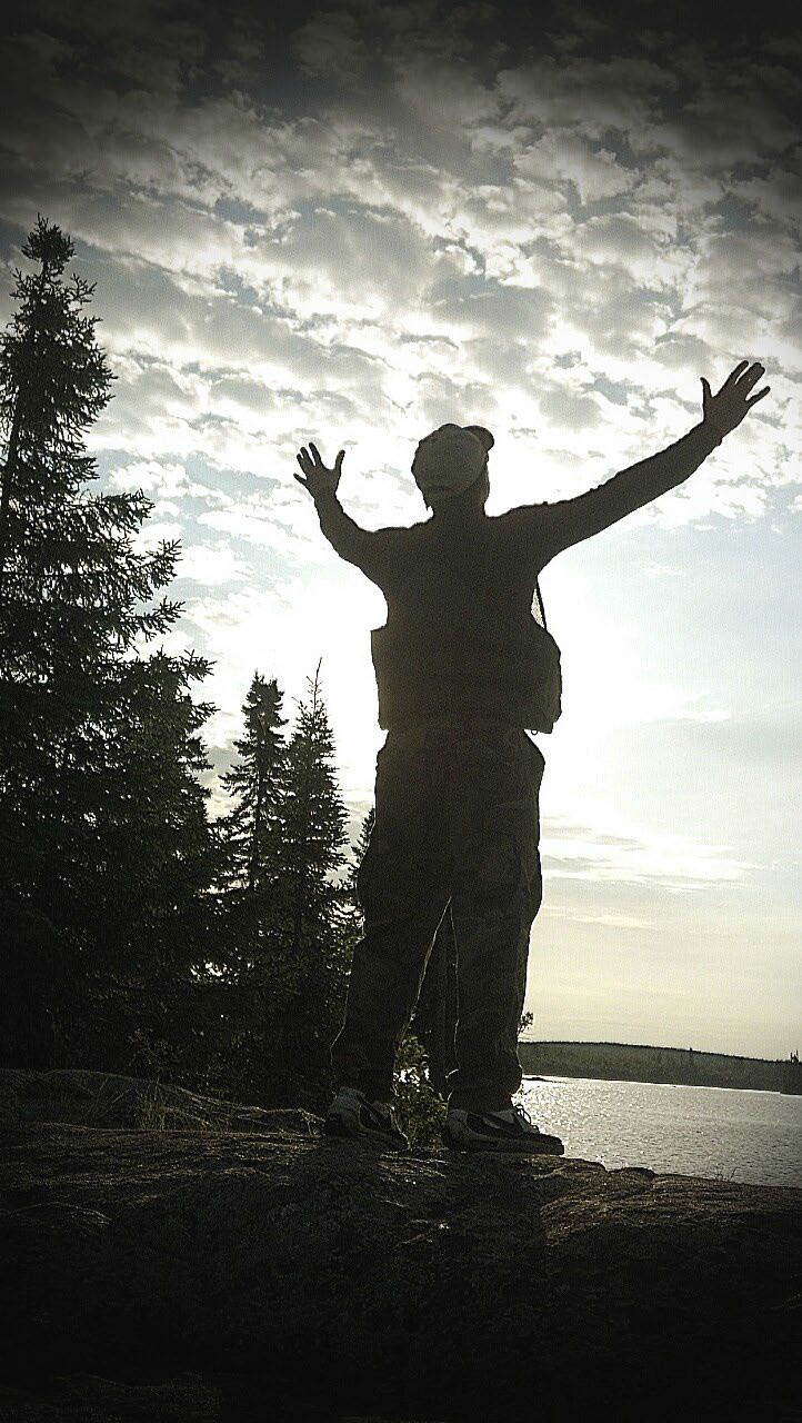 PK hands up praising God