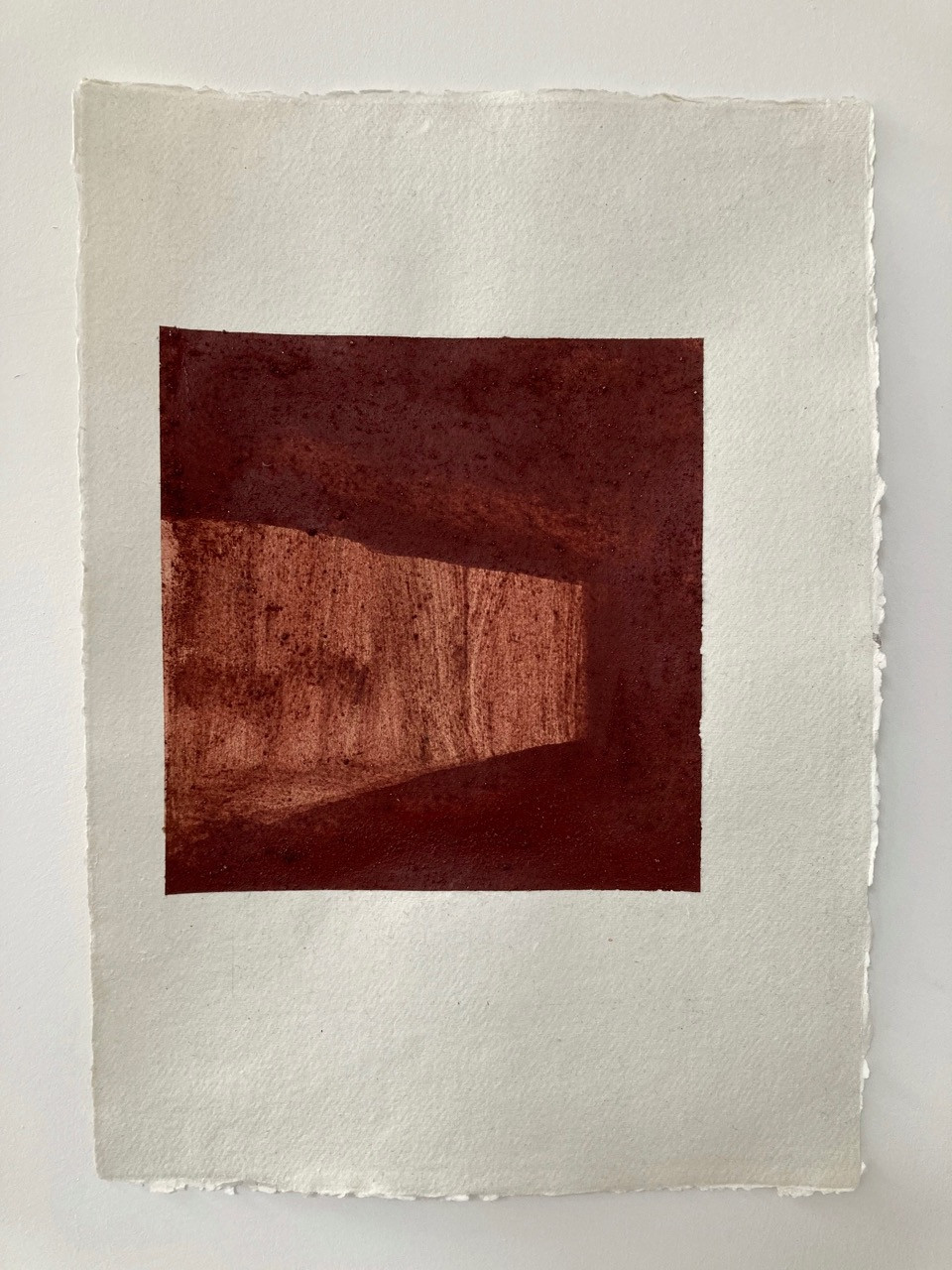 Planes, Icelandic earth pigment on handmade paper, 297 x 420mm