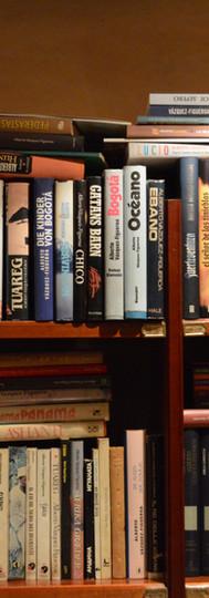Una de las estanterías repletas de libros del despacho de Alberto