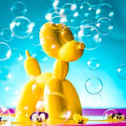 Balloon dog sugar sculpture