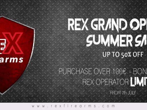 REX GRAND OPENING SUMMER SALE 2018