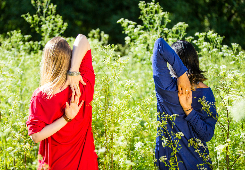 Bija Yoga Tasmania / Hobart / Holli Gipson and Pema Choo Gomukhasana Arms