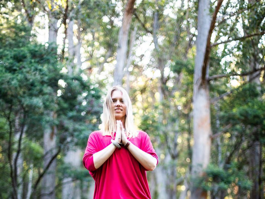 Bija Yoga Tasmania / Hobart / Holli Gipson / tree pose / vrksasana / nature / ferns / myrtle / forest / kapha / earth