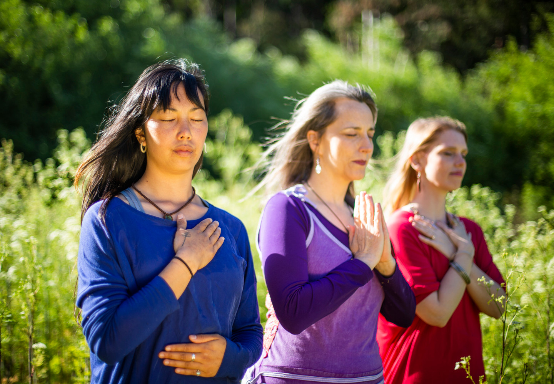 Bija Yoga Tasmania / Hobart / namaste / hands / energy / meditation / heart chakra / Pema Choo / Jen Van-Achteren / Holli Gipson / prayer