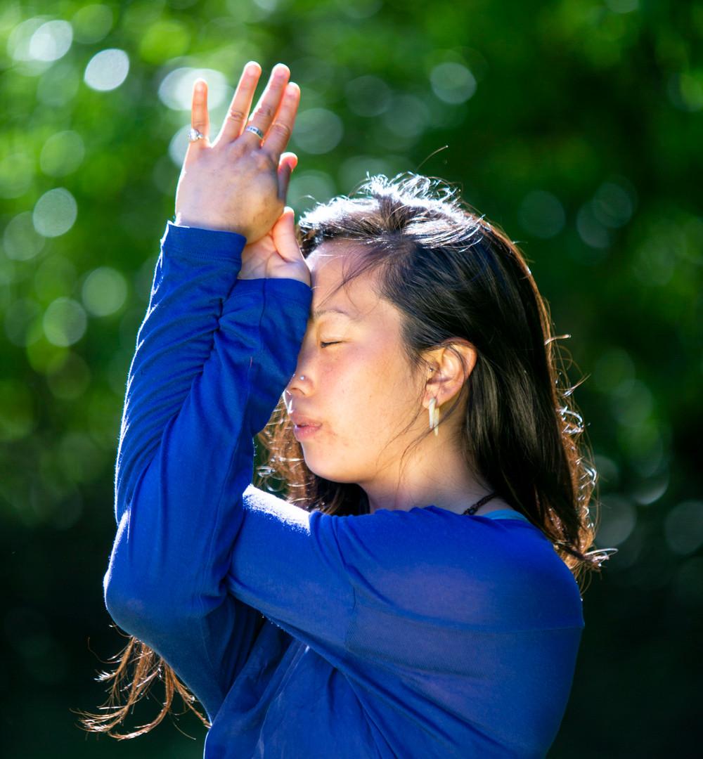 Bija Yoga Tasmania / Hobart / Pema Choo / gomukhasana / cow face pose / shoulder opener / reflection / breath