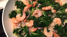 Try this Coconut Shrimp-Kale - One-skillet stir-fry dinner tonight!