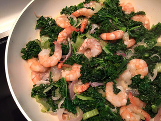 Try this Coconut Shrimp-Kale - One-skillet stir-fry dinner tonight!