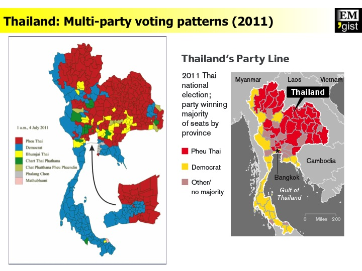 Electoral voting patterns (2011)