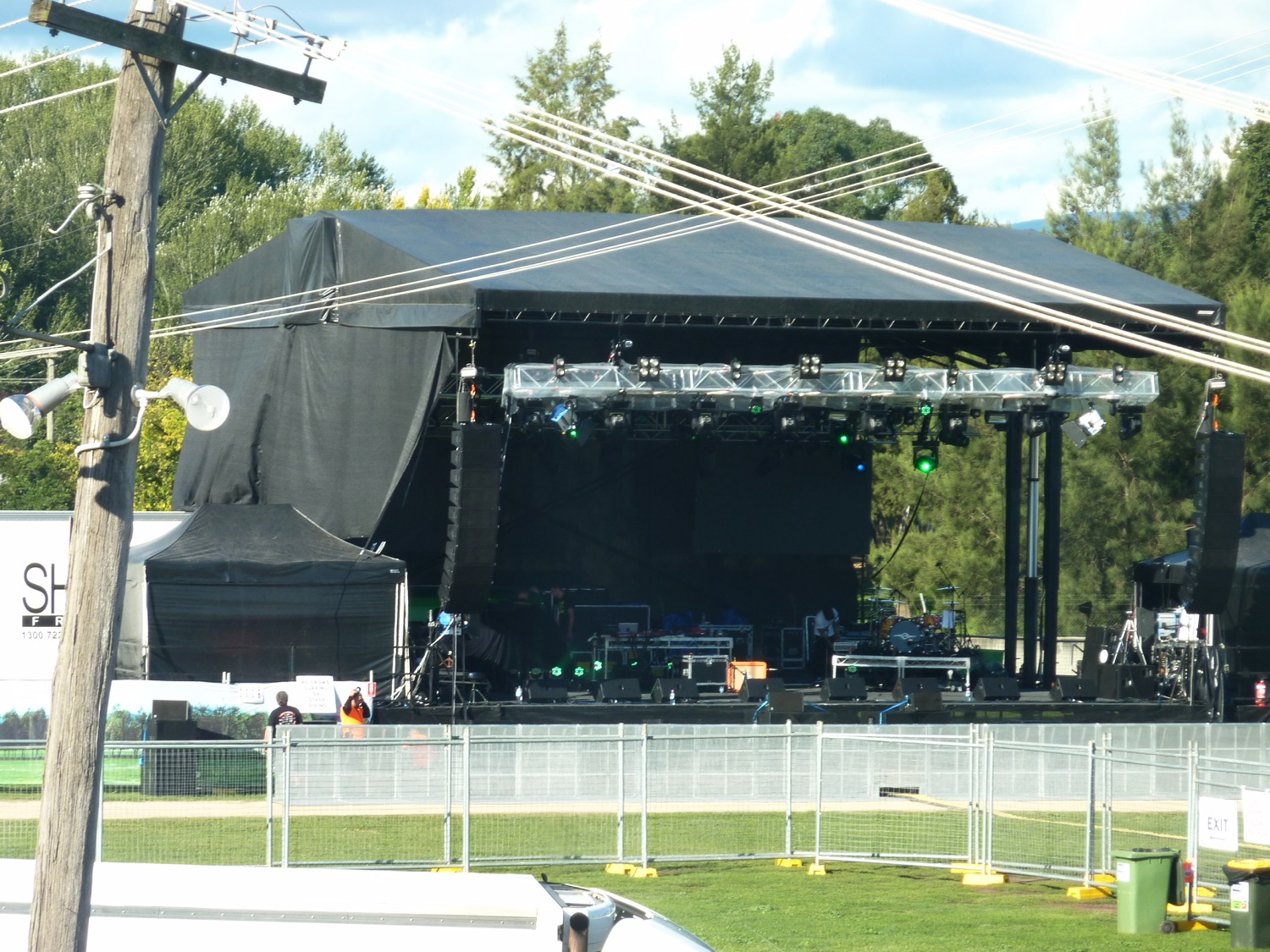 Bathurst Music Concert stage