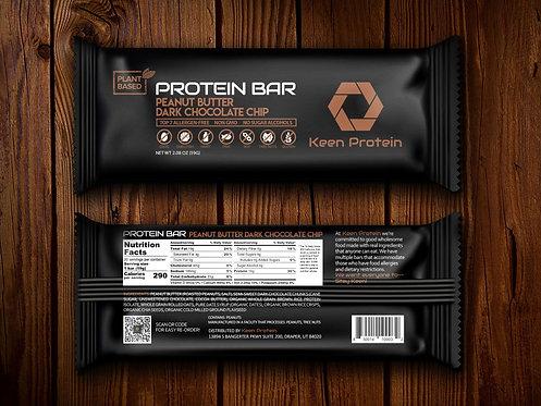 Peanut Butter Dark Chocolate (Box of 12 bars)
