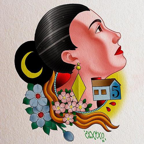Tattoo I 20cm I Color ou Sombreada