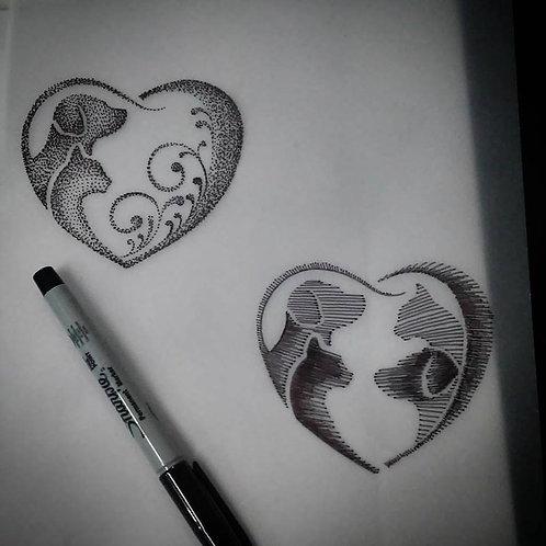 Tattoo I 18cm I Color ou Sombreada