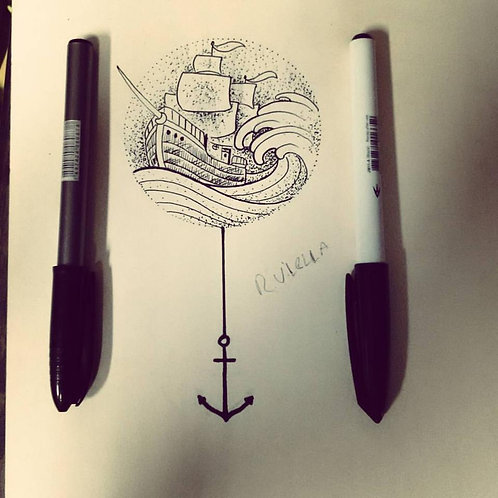 Tattoo I 13cm I Preto