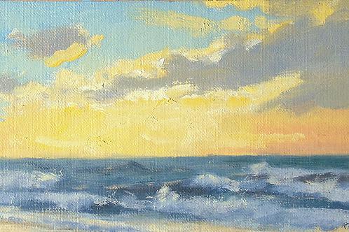 Sunlit Evening at the Beach