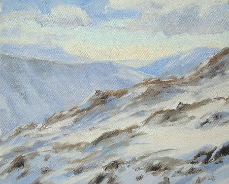 Snow up Cadair Idris