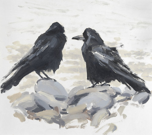 Rooks looking out to Sea, Giclee Print