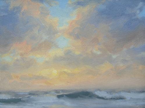 Wild Sea at Sunset