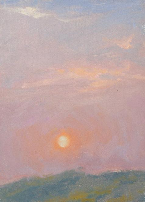 Soft Red Sunset