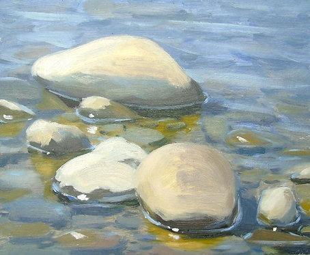 Sunlit Pebbles