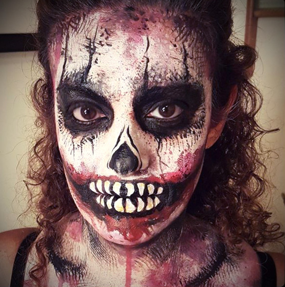 Hallowe'en client having fun with a touch of gore