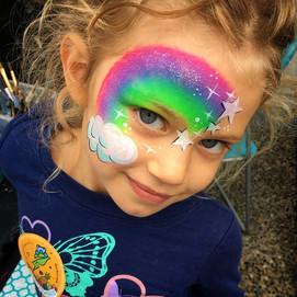 Bright rainbow smiles #rainbowfacepaint