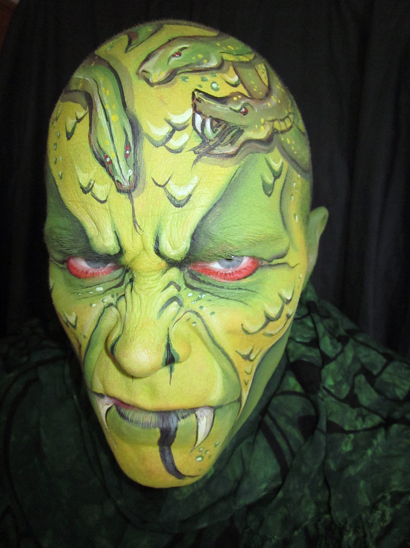 Received first place in Monsters category in West Coast Face and Body Painters competition.