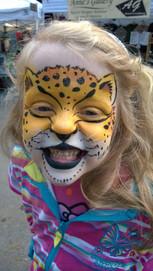 Cheeky Cheetah! #cheetahfacepaint