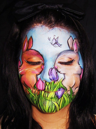 This image garned a 2nd place finish in a Spring themed competition through West Coast Face and Body Painters