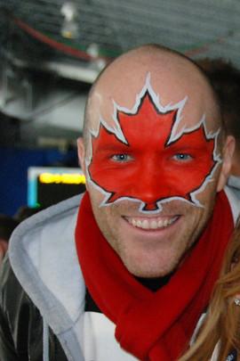 Go Canada Go!  #sportsfacepaint #teamcanada #canadafacepaint #olympicfacepaint