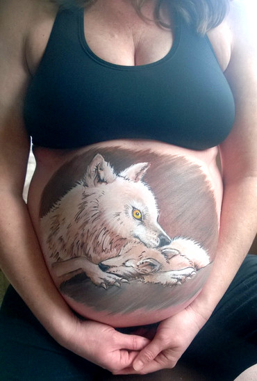 Animal symbolism for this mom-to-be