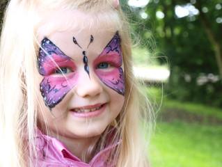 A happy little butterfly! #butterflyfacepaint