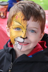 This little lion is too cute to be scary! #lionfacepaint