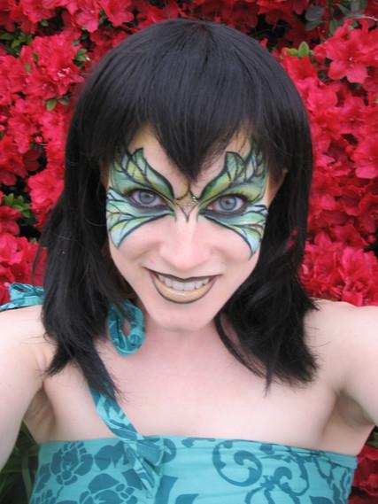 Green Goddess Fairy #fairymakeup #fairyfacepaint