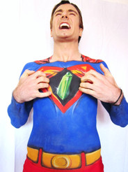Creative interpretion of Superman