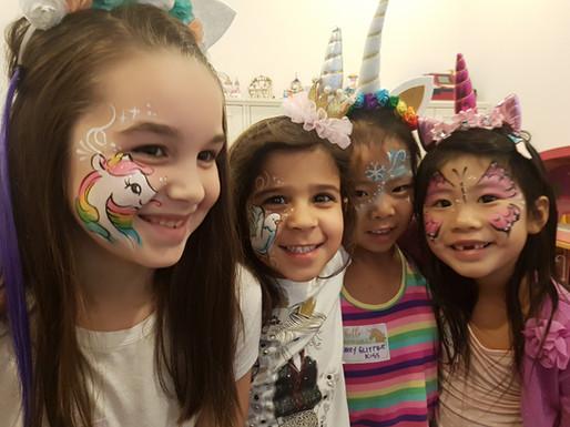 Birthday party smiles! #birthdayfacepaint