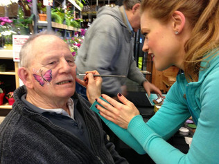Grandpa gets a butterfly to show his granddaughter when he gets home!