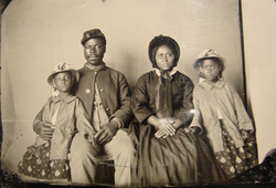 USCT soldier with his family