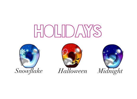 Holiday themed acrylic eyes for Dollfie Dream/ Smart Doll