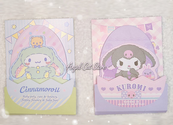 Sanrio easter sticky notes- Cinnamoroll & kuromi