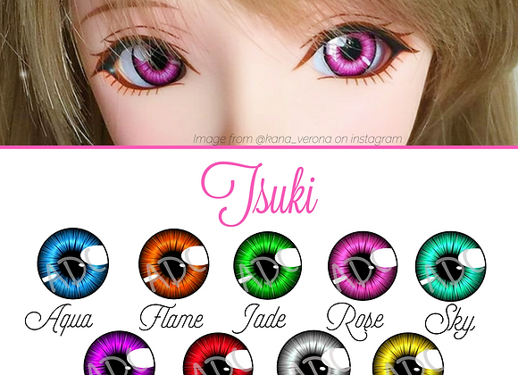 Tsuki design acrylic dollfie dream/smart doll eye