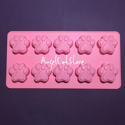 Paw Silicone Mould 10 Cavities