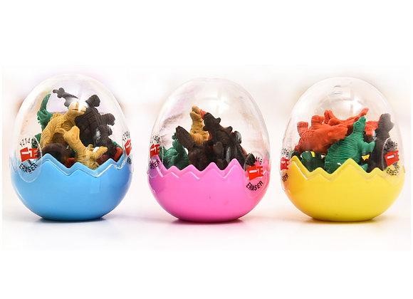 DAMAGED-Egg Filled With Dinosaur Erasers