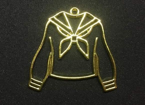 Seifuku School Uniform Shaped Gold Bezel