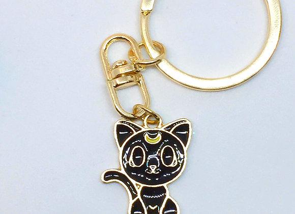 Luna Sailor Moon Metal Keychain