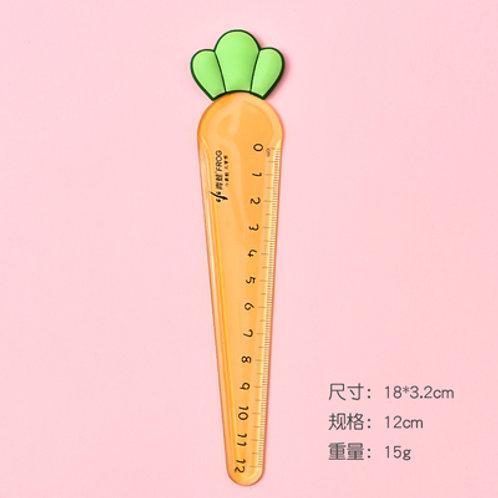 Carrot plastic  ruler