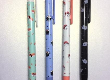 Sushi themed retractable pencil